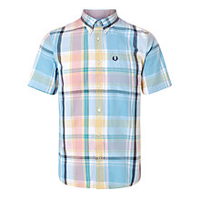 Buy Fred Perry Bold Check Short Sleeve Shirt, Citrus Online at johnlewis.com