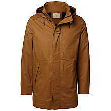 Buy Selected Homme Shtalon Parka Jacket, Rubber Online at johnlewis.com