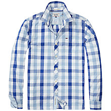 Buy Hilfiger Denim Fabio Block Check Shirt, Limoges Blue Online at johnlewis.com
