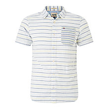 Buy Hilfiger Denim Junior Short Strip Sleeve Shirt, Classic White/Blue Online at johnlewis.com