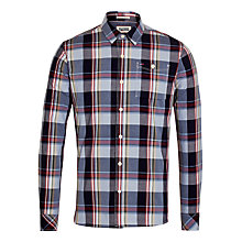 Buy Hilfiger Denim Fadil Check Shirt, Black Iris Online at johnlewis.com
