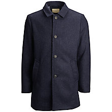 Buy Selected Homme Single Breasted Coat, Dark Navy Online at johnlewis.com
