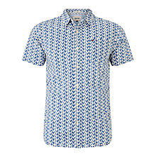 Buy Hilfiger Denim Jay Geometric Print Short Sleeve Shirt, Limoges Online at johnlewis.com