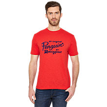 Buy Original Penguin Flocked Script Logo T-Shirt Online at johnlewis.com