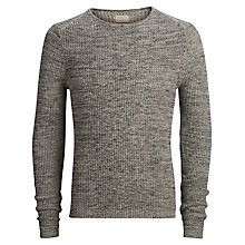 Buy Selected Homme Shkeen Cotton Jumper, Grey Online at johnlewis.com
