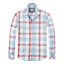 Buy Hilfiger Denim Fred Check Shirt, Classic White/Multi Online at johnlewis.com