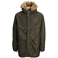 Buy Selected Homme Shinoma Long Jacket, Forest Night Online at johnlewis.com