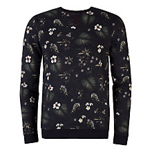 Buy Ted Baker Honesti Floral Printed Sweatshirt, Navy Online at johnlewis.com