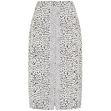 Buy Jaeger Dot Dash Skirt, Ivory/Black Online at johnlewis.com