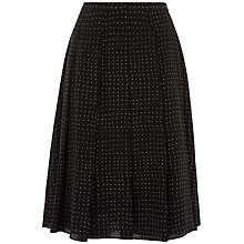 Buy Jaeger Silk Spot Skirt, Black/White Online at johnlewis.com