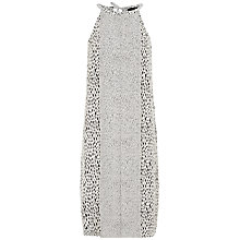 Buy Jaeger Silk Dot Dash Dress, Ivory / Black Online at johnlewis.com