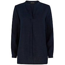 Buy Jaeger Linen Casual Tunic Top, Midnight Online at johnlewis.com