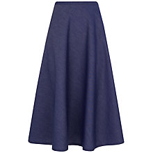 Buy Jaeger Chambray Skirt, Chambray Online at johnlewis.com
