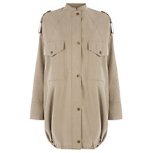 Buy Warehouse Fluid Drape Parka Coat, Stone Online at johnlewis.com