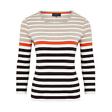 Buy Viyella Cotton Striped Top, Multi Online at johnlewis.com