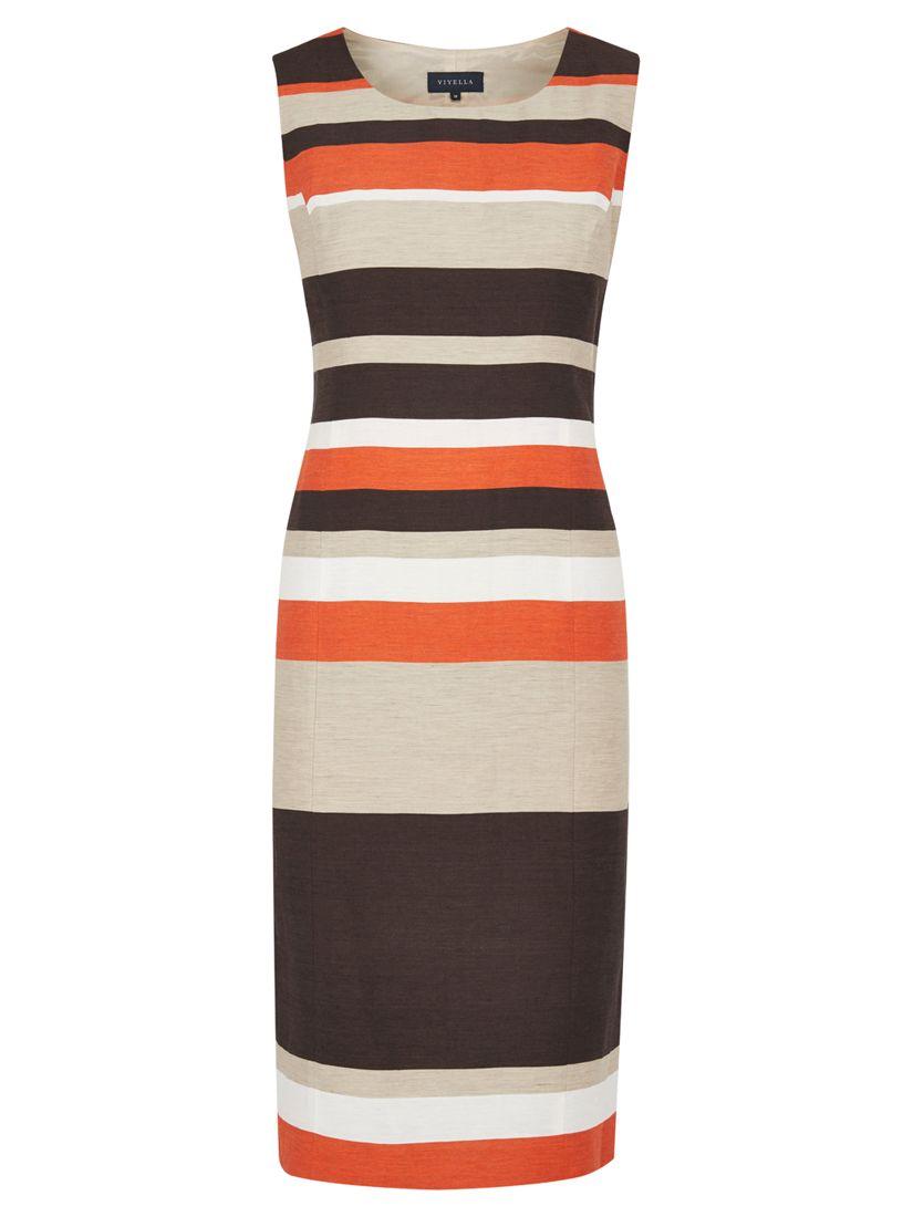 viyella striped shift dress paprika, viyella, striped, shift, dress, paprika, 18|20|8|12|14|10|16, women, womens dresses, special offers, womenswear offers, up to 30% off selected viyella, 1885346