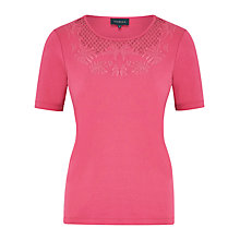 Buy Viyella Petite Cutwork Cotton Top, Orchid Online at johnlewis.com
