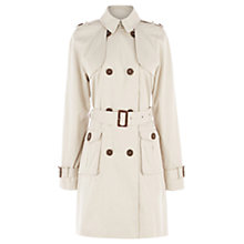 Buy Warehouse Double Breasted Pocket Mac, Beige Online at johnlewis.com