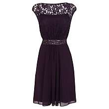 Buy Coast Lorilee Lace Dress, Grape Online at johnlewis.com