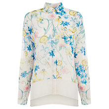Buy Warehouse Floral Boxy Blouse, Multi Online at johnlewis.com