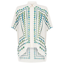 Buy Warehouse Boxy Kaftan Print Shirt, Multi Online at johnlewis.com