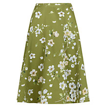 Buy Hobbs Cherry Blossom Skirt, Lily Green Multi Online at johnlewis.com