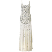 Buy Adrianna Papell Wedding Beaded Mesh Gown, Ivory Online at johnlewis.com