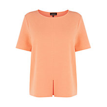 Buy Warehouse Jacquard Split Front Top, Coral Online at johnlewis.com