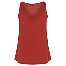 Buy Warehouse V-Neck Satin Front Vest Top Online at johnlewis.com