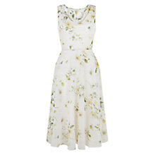 Buy Hobbs Cherry Blossom Dress, Natural Multi Online at johnlewis.com