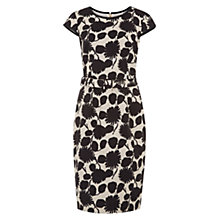 Buy Hobbs Linen Jessie Dress, Natural/Black Online at johnlewis.com