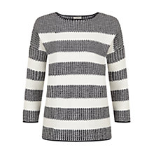 Buy Hobbs Brooke Jumper, Navy/Off White Online at johnlewis.com