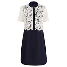 Buy Warehouse Lace Shirt Dress, Midnight Online at johnlewis.com