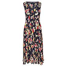 Buy Viyella Floral Print Crinkle Dress, Multi Online at johnlewis.com