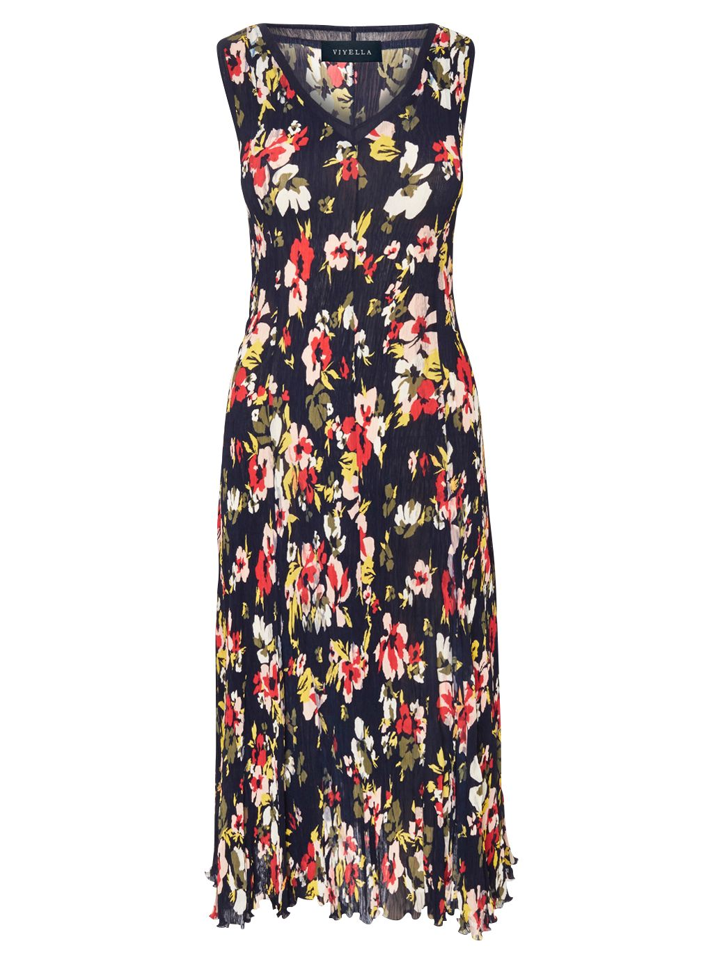 viyella floral print crinkle dress multi, viyella, floral, print, crinkle, dress, multi, l|xl|m|s|xxl, women, plus size, womens dresses, special offers, womenswear offers, up to 30% off selected viyella, 1885301