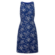 Buy Hobbs Lily Jacquard Dress, China Blue Online at johnlewis.com