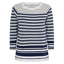 Buy Hobbs Libby Jumper, Mid Blue Multi Online at johnlewis.com