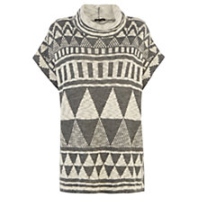 Buy Warehouse Geo Pattern Poncho, Grey Online at johnlewis.com
