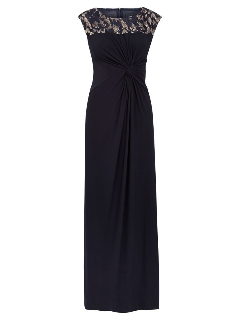 viyella lace detail maxi dress navy, viyella, lace, detail, maxi, dress, navy, 14|10|20|18|16|12|8, women, plus size, womens dresses, special offers, womenswear offers, up to 30% off selected viyella, 1885331