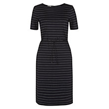 Buy Hobbs Imelda Dress, Navy/White Online at johnlewis.com