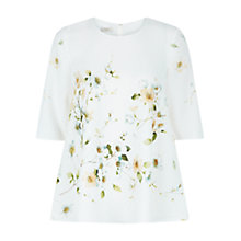 Buy Hobbs Cherry Blossom Top, White Multi Online at johnlewis.com