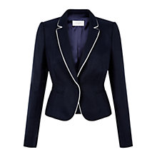 Buy Hobbs Yvonna Jacket, Navy/Ivory Online at johnlewis.com