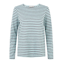 Buy Hobbs Evie Top, Grey Mel Mint Online at johnlewis.com