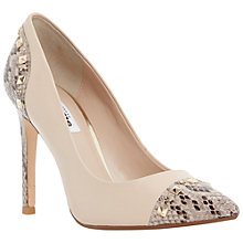 Buy Dune Brontie Leather High Heeled Court Shoes Online at johnlewis.com