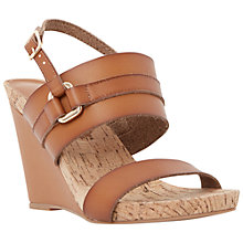 Buy Dune Kimmie Cork Wedges, Tan Online at johnlewis.com