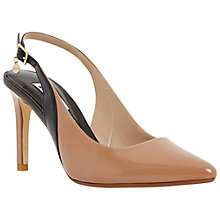 Buy Dune Camelia Toe Pointed Stiletto Heeled Courts, Taupe Online at johnlewis.com