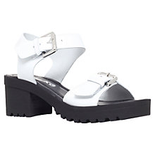 Buy Miss KG Petal Leather Cleated Sole Sandals, White Online at johnlewis.com