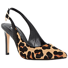 Buy Dune Camelia Sling Back Court Shoes, Leopard Online at johnlewis.com