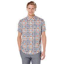 Buy Original Penguin Jona Patch Madras Short Sleeve Shirt, Skydiver Online at johnlewis.com