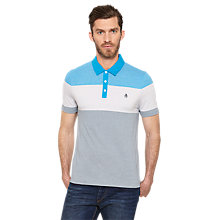 Buy Original Penguin Wick Panel Polo Shirt, Diva Blue Online at johnlewis.com